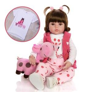 Image 2 - KEIUMI 뜨거운 판매 다시 태어난 아기 인형 장난감 천 몸은 기린 유아 생일 크리스마스 선물로 현실적인 아기 인형을 박제