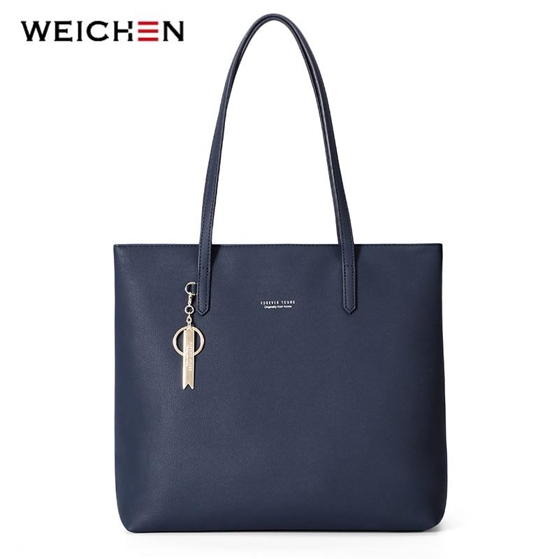 WEICHEN Large Capacity Women Handbag Ladies Top-Handle Totes Shoulder Bag Female Casual Tote Shopping Sac Big Travelling Bag