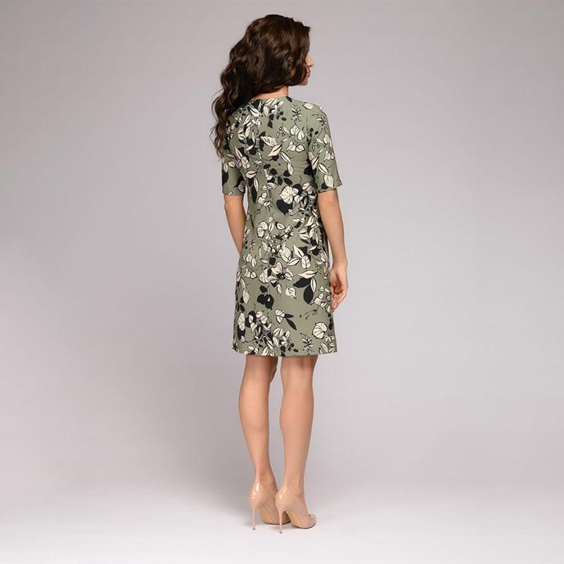Women Vintage Flower Printed A-line Party Dress Short Sleeve O neck Elegant Casual Mini Dress 2020 Summer Fashion Women Dress