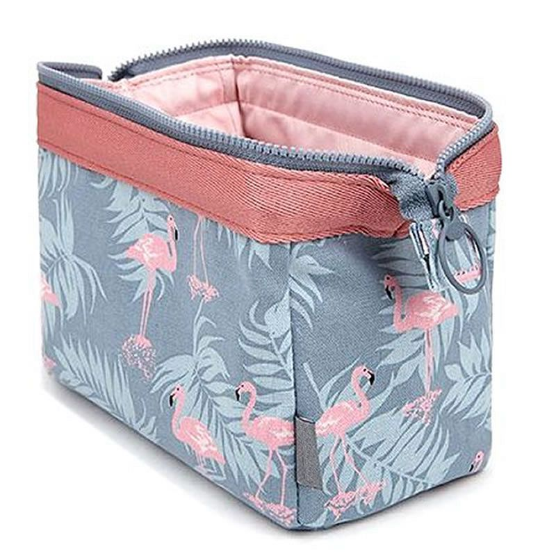 Toiletry Pouch Cosmetic-Bag Storage-Kit Bath-Case Makeup Wash-Organizer Animal Flamingo