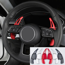 Voor Audi A4 B9 A5 Stuurwiel Shift Paddle Uitbreiding Shifters Vervanging Cover Sitcker Interieur Auto Accessoires(China)