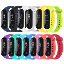 ALLOYSEED 13Pcs/Set Colorful Silicone Wrist Strap Band For Xiaomi Mi Band 3/4 Smart Bracelet Wristband Replacement Wrist Strap
