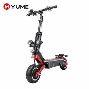 Мощный складной электрический скутер YUME X11, 11 дюймов, 5000 Вт, внедорожные шины до 55 миль/ч, для взрослых