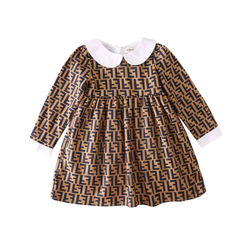 Fashion Toddler Girl Causal Clothes Beautiful cotton Dresses Baby Girl Knee Length Dress Pan Collar Kids Long Sleeve Dress on AliExpress