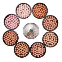 Face Blush Ball Waterproof Blush Highlightr Long Lasting Pigments Matte Oil-control Contouring Blush Make Up Brush Rubor Peach