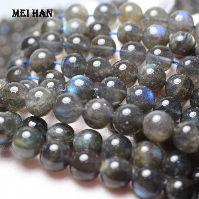 Meihan (1 strand/set) natürliche grade A + labradorit 9,5 10,5mm & 11,5 12,5mm glatte runde lose perlen für schmuck machen design