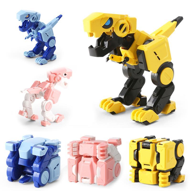 New Cubic Deformation Dinosaur Kids Toys Transformed Cube Tyrannosaurus Cool Style Action Deformation Dinosaur For Children Gift