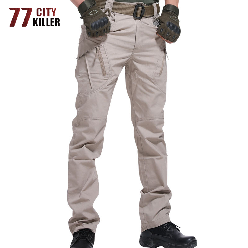 New Military Tactical Pants Waterproof Cargo Pants Men Breathable SWAT Army Solid Color Combat Trousers Work Joggers Size S-5XL