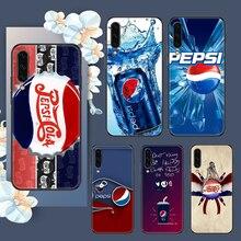 Engraçado Pepsis Cola caso de Telefone Para Samsung Galaxy UM 3 5 7 8 10 20 21 30 40 50 51 70 71 E S 2016 2018 4G arte negra de luxo nobre