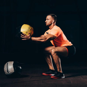 35cm Crossfit Medicine Ball Empty Snatch Wall Balls Heavy Duty Exercise Kettlebell Lifting Fitness MB Muscle Building 4