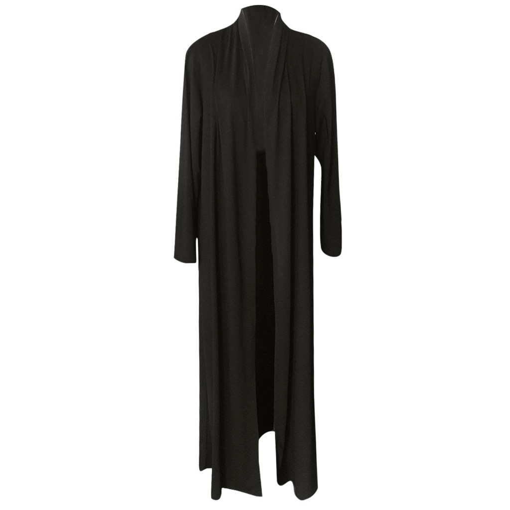 Hb60dd31ba0e4494c9a6b7d60ee47c187O Feitong Men's Cardigans Casual Slim Solid Long Shirt Tops Long Coat Outerwear Plus Size