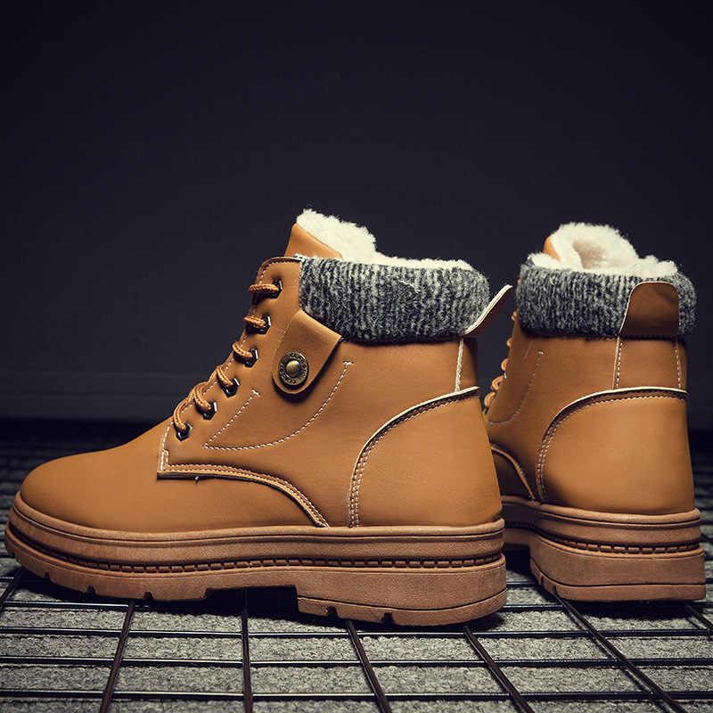 Blast 2019 Nieuwe Warme Snowboots Mannen Plus Fluwelen Mannen Schoenen Outdoor Koude Laarzen Waterdichte Mannen Laarzen Hoge -Gang Katoen Laarzen