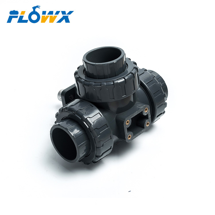 Plastic 3 Way Electric Control Motorized Pvc Ball Valve 3inch Price