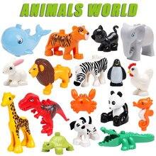 Única venda grande zoológico animal original grandes blocos de construção acessórios clássicos compatíveis tamanho grande figura tijolos brinquedos para crianças