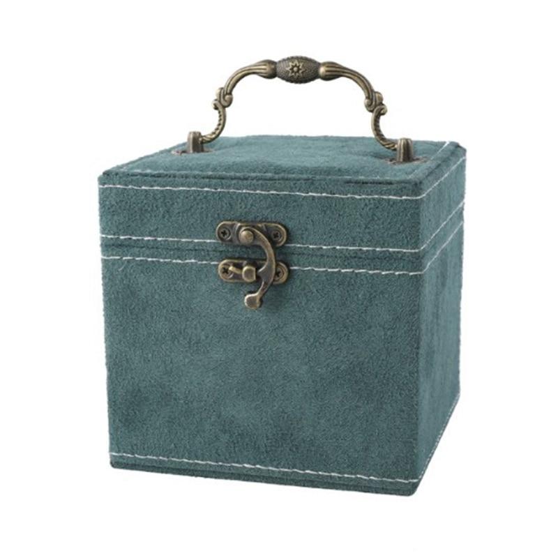 Jewelry Box Storage Box for Women Girls, Double Jewelry Display Storage Box Necklace Earring Bracelet Ring Watch-Green