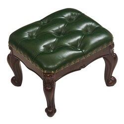 Europejskiej mały taboret pokój dzienny z litego drewna skórzana sofa stołek buta zmienić stołek amerykańska kawa stół taboret domu