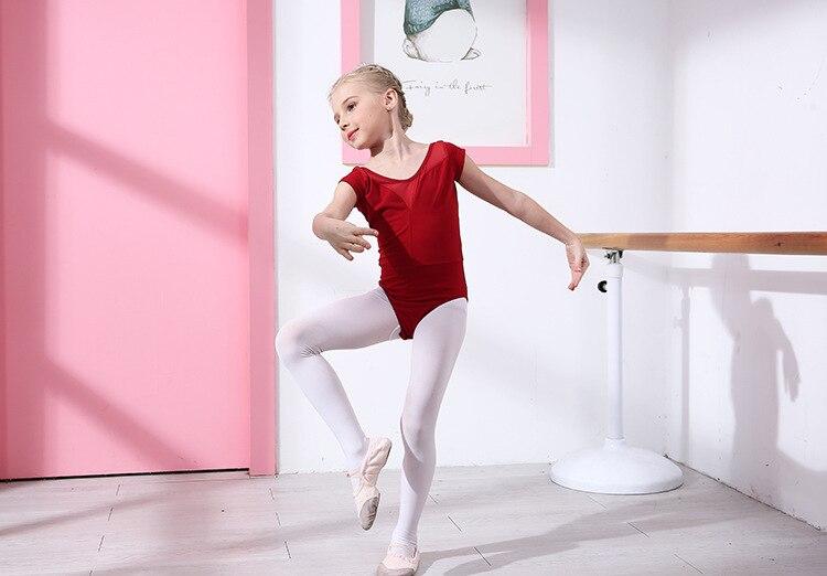 Детская танцевальная балетная Одежда для девочек; балетная юбка для осмотра; кружевная юбка с длинными рукавами; плотная разноцветная балетная одежда для латиноамериканских танцев - Цвет: red-2