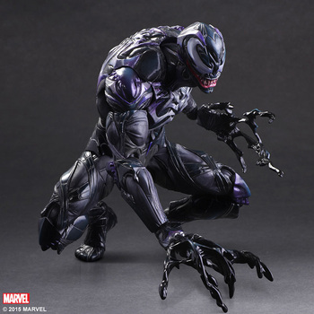 Action Figure Spider Man 16cm Venom Spride Play Arts Kai Amazing Spiderman VenomPVC Doll Toys Cartoon Collectible Model Anime