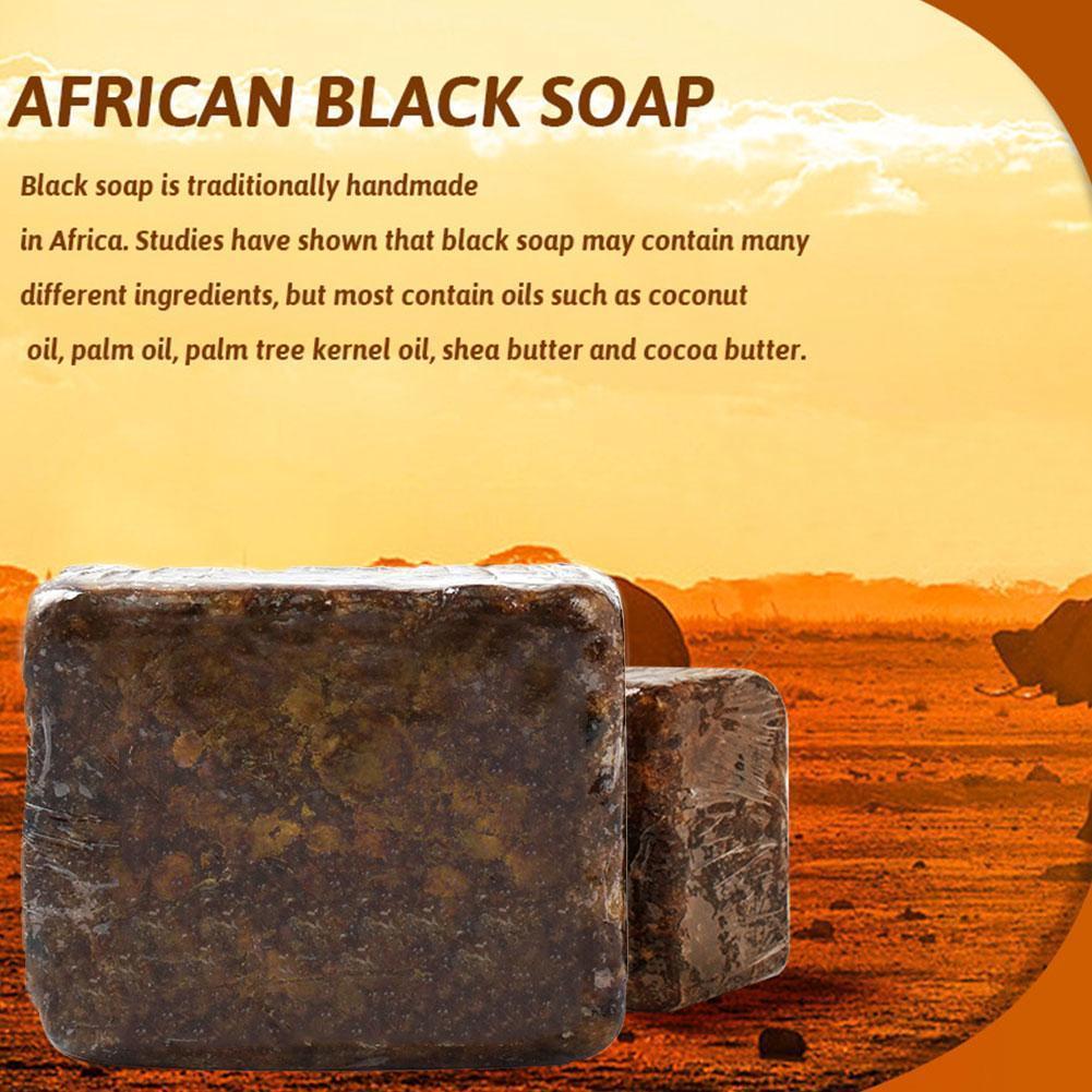 Savon noir 100% naturel africain Anti-Taches, 110g, savon magique pour le corps, la peau, l'acné, le bain de beauté, traitement de beauté, Q8Q7