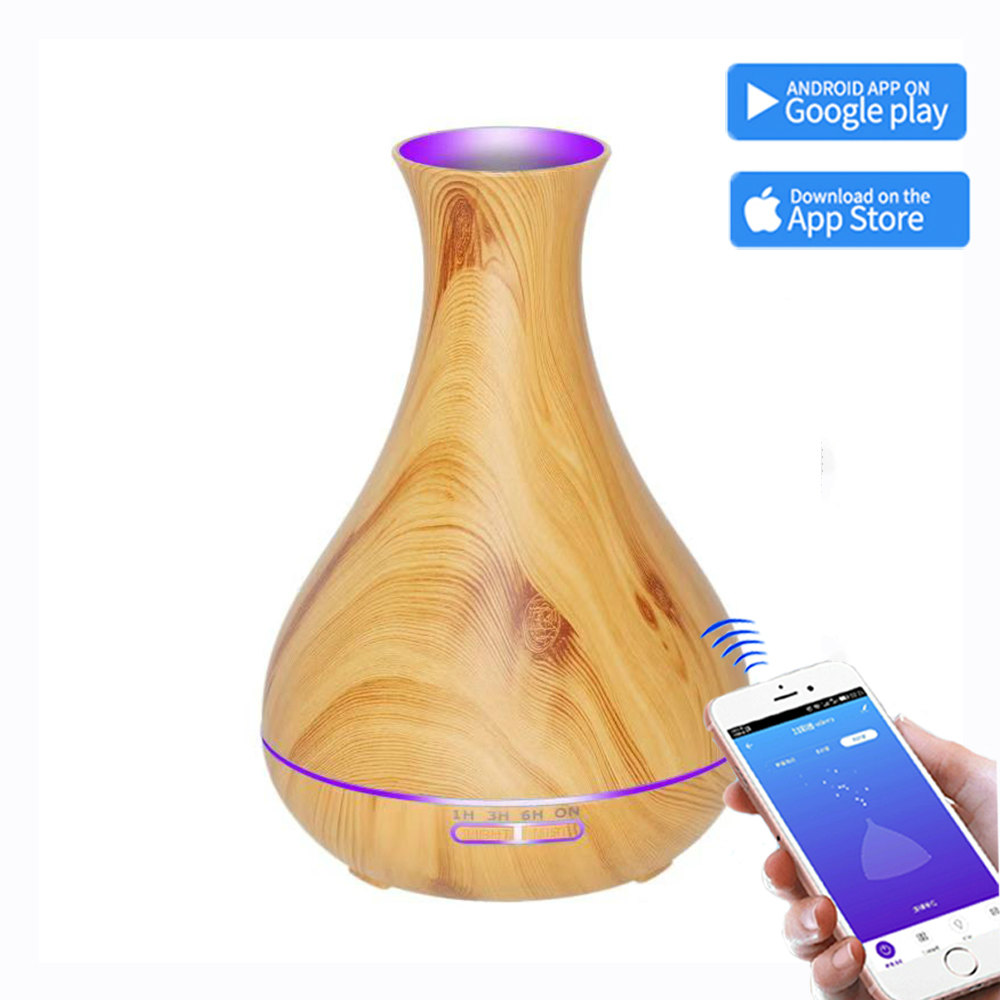 Smart Wifi Wireless Essential Oil Aromatherapy Diffuser with mobile Google App Control 550ml Ultrasonic Diffuser Humidifier home