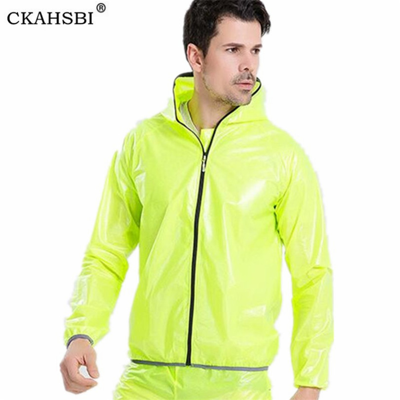 CKAHSBI Men Cycling Jacket Bicycle Bike Rain Raincoat Long Sleeve 2019 Outdoor Waterproof Sport Windproof Cycle Clothing