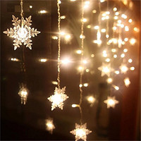 Led Curtain Light 3.5M 5M AC220V Snowflake Romantic indoor/Outdoor Decoration Fairy Light 8 modes for Party Window Patio