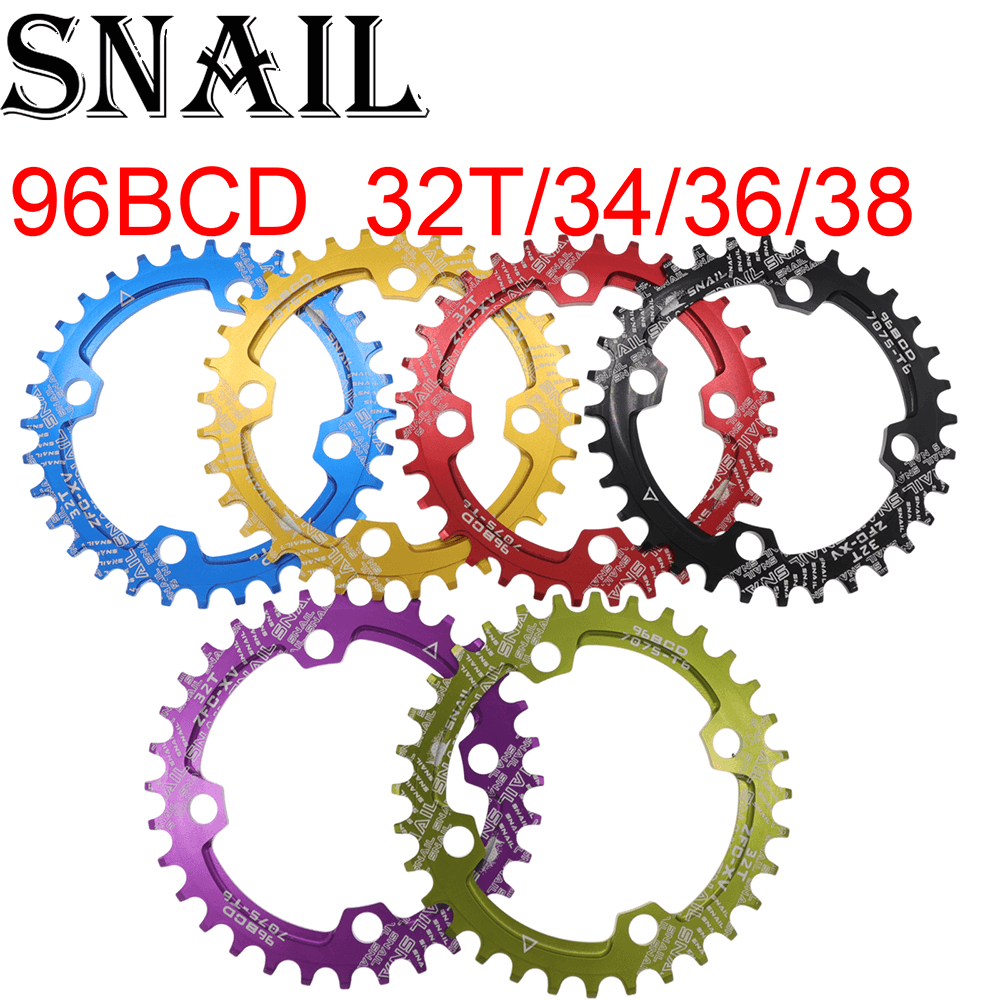 BCD 104mm 32//34//36//38T Bike Chainring Narrow Wide MTB Bicycle Chain Ring Cycling