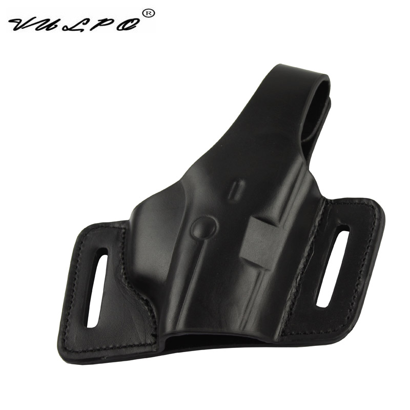 VULPO Tactical Pistol Leather Holster M9/92F Belt Holster For Gun Pistol M9/92F image
