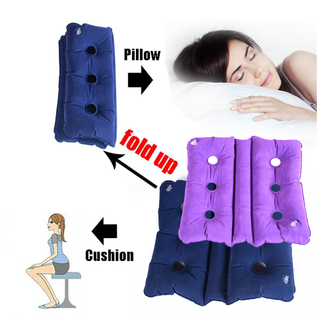 Travel Orthopedic Air Inflatable Cushion Seat Chair Wheelchair Pillow Pad Sciatica Hemorrhoid Coccyx Tailbone Support