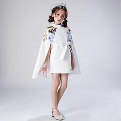Платья с цветочным узором для девочек на свадьбу, белый короткий цвет слоновой кости, платья для причастия для девочек, пышные платья для