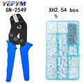 SN-2549 crimpen zangen 0,08-0.1mm2 28-18AWG mit XH2.54 terminal box Auto stecker hohe präzision draht crimp elektriker werkzeuge