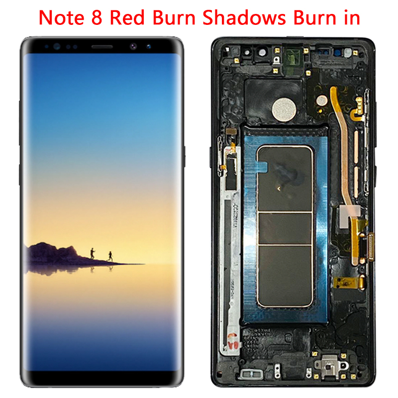 SUPER AMOLED N950 LCD For Samsung Note 8 LCD Display Touch Screen 6.3'' Frame For Galaxy Note 8 SM-N950U N9500 N950FD Screen