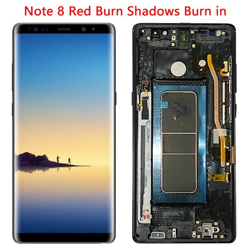 SUPER AMOLED N950 LCD For Samsung Note 8 LCD Display Touch Screen 6.3'' Frame For Galaxy Note 8 SM-N950U N9500 N950FD Screen