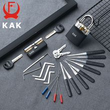 KAK Padlock with keys Locksmith Tools Visible Cutaway Training Practice Lock Pick Broken Key Removing Hooks Hand Tools Hardware