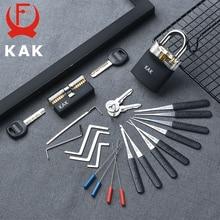 KAK Padlock with keys Locksmith Tools Visible Cutaway Training Practice Lock Pick Broken Key Removing Hooks Hand Tools Hardware