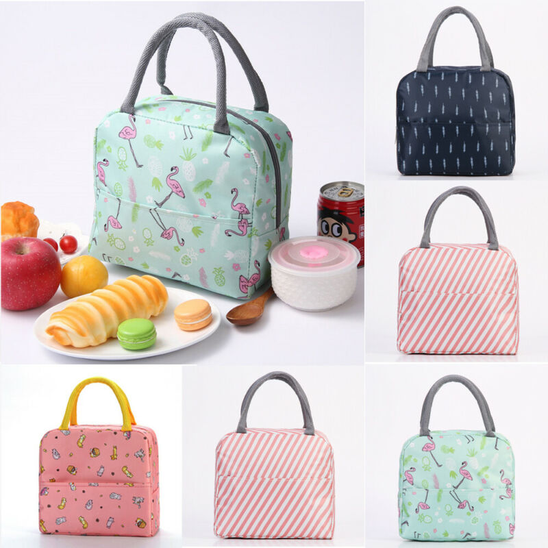 2019 Newest Hot Women Girls Children Kids Portable Thermal Insulated Lunch Bag Box Picnic Tote Pattern Printed Oxford Lunch Bag