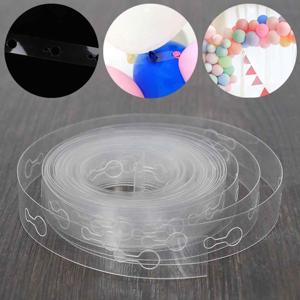 5m Balloon Chain Tape Arch Connect Strip Wedding Birthday Christmas Party Decor