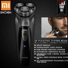 Электробритва xiaomi для мужчин, триммер для бороды, бритва, бритва xiaomi, бритва, станок для бритья,, 3 головки, сухое влажное бритье, моющаяся бритва