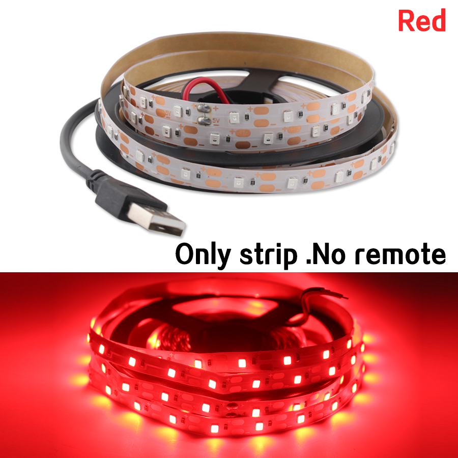 USB Led Strip 5V Light 2835 Not Waterproof Warm White Cable USB TV Backlight Neon Led Light Strip 5V Lamp Tape Diode Decor