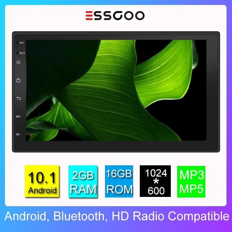 Essgoo Android10.1Universal 2GB + 16GB Autoradio 7 pouces Autoradio 2 Din Central Multimidia lecteur vidéo Automotivo Gps