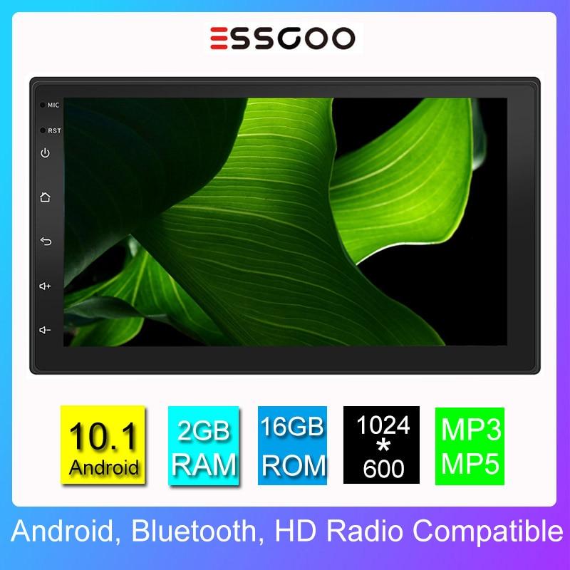 Essgoo-autorradio 2 Din con reproductor de vídeo y Gps para coche, Radio Universal de 7 pulgadas, 2GB + 16GB, Android 10,1