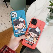 Lovely Girl Boy For 11pro max iphone X Xr Xs phone cases Iphone7p 8plus Soft cases/phone cases / bumpers /Silicone cases(China)