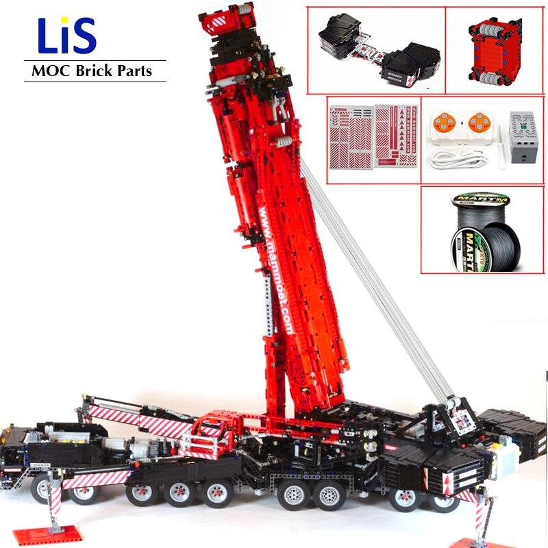 Nova potência atualizada móvel guindaste blocos de construção modelo MOC-20920 ltm11200 liebherrs técnica kits de motor diy tijolos brinquedos presentes do menino