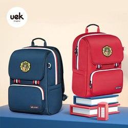 Uek garçons sac à dos grand sac d'école pour filles en Nylon étudiant Bookbag pour enfants imperméable à l'eau léger sac à dos voyage sac à main