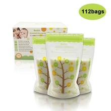 112 шт 235 мл детские пакеты для хранения грудного молока безопасная пищевая дезинфицирующая герметичная Герметичная сумка-холодильник для мамы и молока безопасные детские сумки для кормления