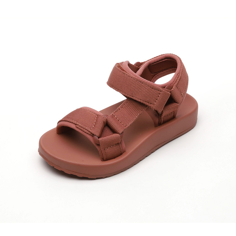 New Summer Kids Baotou Sandals Fashion Magic Stick Casual Boys Solid Color All-around Beach Shoes Baby Light Comfortable Sandals