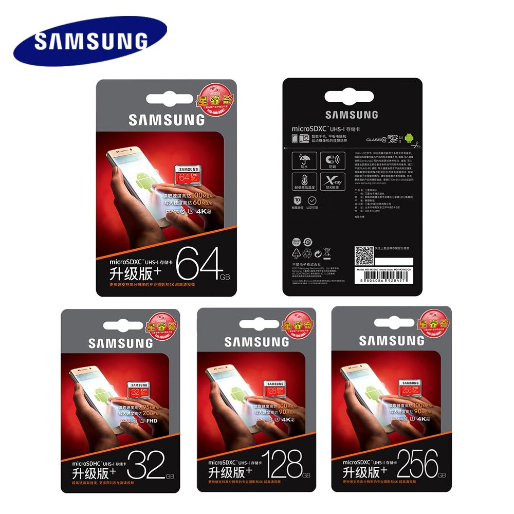 Image 5 - Карта памяти SAMSUNG EVO Plus Micro SD 32 Гб 64 Гб 128 ГБ 256 ГБ SDHC/SDXC U3 C10 UHS I 4K карта HD TF для смартфона, планшета и т. Д.-in Карты памяти from Компьютер и офис