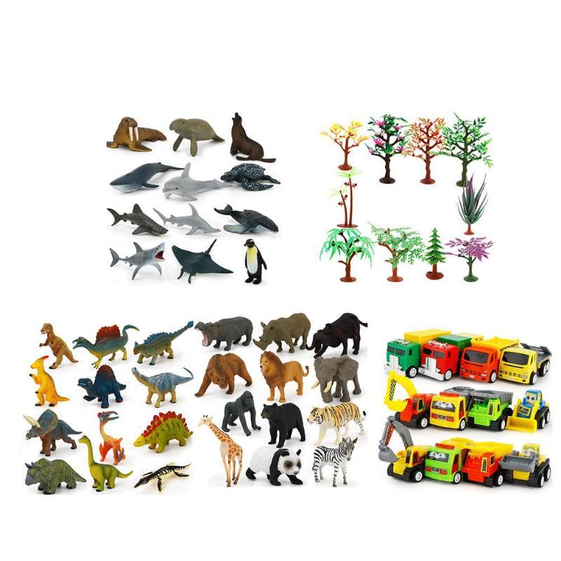 Kids Imagination Toy Set Dinosaur Animal Tree Models Kit Children Birthday Gifts Interactive Situational Demonstration Thinking