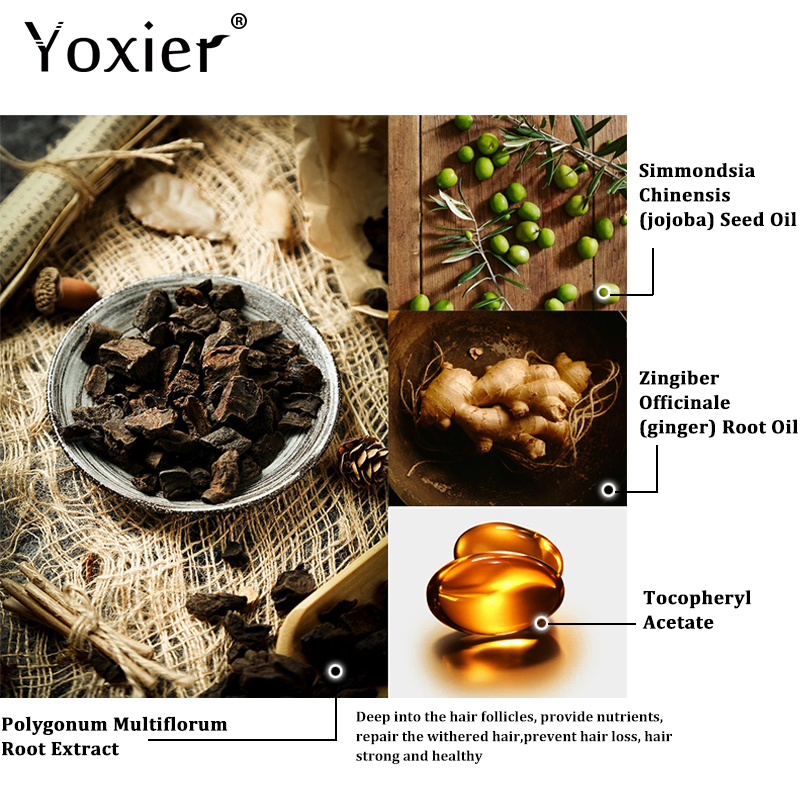 Купить с кэшбэком Yoxier Herbal Hair Growth Essential Oil Shampoo hair care styling Hair Loss Product Thick Fast Repair Growing Treatment Liquid