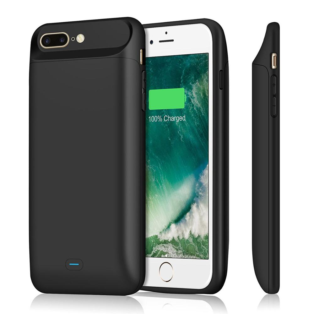 5000-7200mAh For <font><b>iPhone</b></font> <font><b>6</b></font> 6s 7 8 Plus External <font><b>Battery</b></font> <font><b>Case</b></font> Magnetic Portable Power Bank Pack Fast Charger Protect Cover image